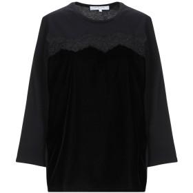 《期間限定セール開催中!》GERARD DAREL レディース T シャツ ブラック 1 コットン 59% / レーヨン 41%