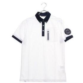 アディダス adidas メンズ ゴルフ 半袖シャツ ADICROSS チェストポケット S/S B.D.シャツ DW6276 (ホワイト)