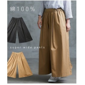 パンツ ワイド ガウチョ レディース ゆったりワンサイズ スカート 見えする超ワイド  S〜LL ニッセン