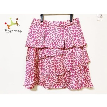 トゥービーシック TO BE CHIC スカート サイズ42 L レディース アイボリー×ピンク ハート柄 スペシャル特価 20190916