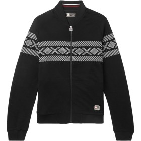 《期間限定セール開催中!》ZZEGNA メンズ スウェットシャツ ブラック L ウール 100%