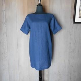 リネンのTドレス