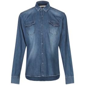 《送料無料》P.GRAX メンズ デニムシャツ ブルー XL コットン 98% / ポリウレタン 2%