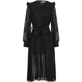 《9/20まで! 限定セール開催中》NINEMINUTES レディース 7分丈ワンピース・ドレス ブラック 44 ポリエステル 100%
