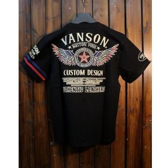 VANSON バンソン NVST-915 天竺Tee ワンスター ウイング ブラック