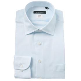 【SALE開催中】【THE SUIT COMPANY:トップス】【COOL MAX】ワイドカラードレスシャツ 織柄 〔EC・BASIC〕