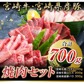 宮崎牛・宮崎県産豚☆焼肉セット