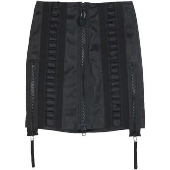 《期間限定セール開催中!》DIESEL レディース ミニスカート ブラック 25 羊革(ラムスキン) 100% / コットン / ポリウレタン