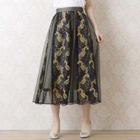 [マルイ] チュール刺繍フレアスカート/ローズティアラ(Rose Tiara)