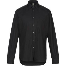 《9/20まで! 限定セール開催中》DONDUP メンズ シャツ ブラック XL コットン 100%