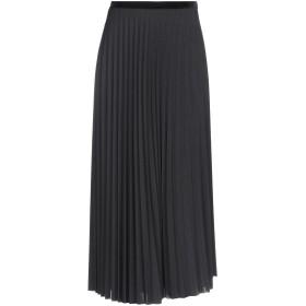 《期間限定セール開催中!》ALPHA STUDIO レディース 7分丈スカート ブラック 40 ポリエステル 94% / ポリウレタン 6%