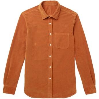 《期間限定セール開催中!》ALTEA メンズ シャツ ブラウン S コットン 97% / ポリウレタン 3%
