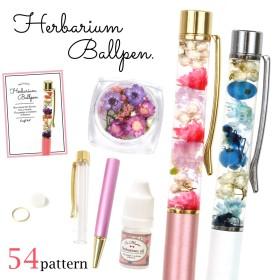 【送料無料:国内配送品】 【手作りキット】ハーバリウムペン お好きなペンの色と素材が選べます♪ 作り方説明書付きボールペン ハンドメイドペン プリザーブドフラワー ドライフラワー