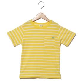 37%OFF SUNDAYS SUN (サンデイズサン) クリップ刺繍ボーダーTシャツ イエロー