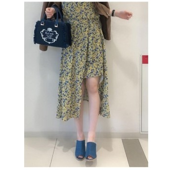 CECIL McBEE 小花スリットスカート イエロー