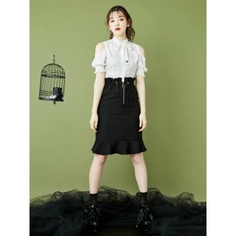 [EATME]FRONTジップマーメイドスカート