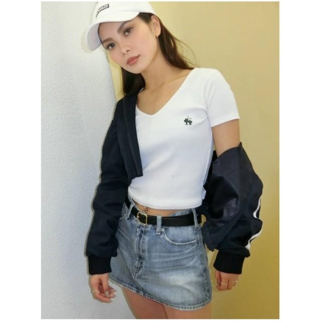 ジェイダ GYDA サマーモチーフテレコショートTシャツ (オフホワイト)