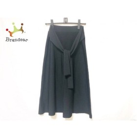 ミラオーウェン Mila Owen ロングスカート サイズ1 S レディース 美品 黒 ニット  値下げ 20190823