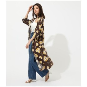 (AZUL BY MOUSSY/アズールバイマウジー)BIG FLOWER GOWN/レディース 柄BRN5