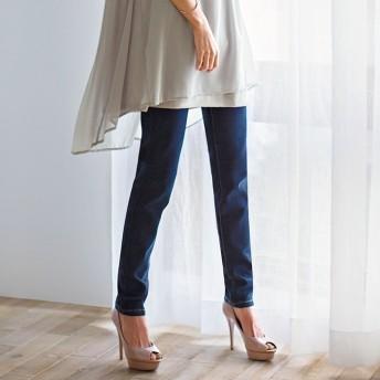 ベルーナ ベーシックデニムパンツ ブルー 67 レディースフルレングスパンツ 春 夏 パンツ ズボン レディースファッション アパレル 通販 大きいサイズ コーデ 安い おしゃれ お洒落 30代 40代 50代 女性