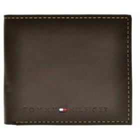 トミーヒルフィガー TOMMY HILFIGER メンズ 二つ折り財布 ブラウン レザー 31tl25x005-200