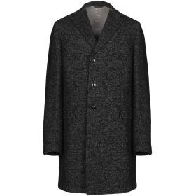 《9/20まで! 限定セール開催中》MANUEL RITZ メンズ コート ブラック 54 コットン 37% / ウール 25% / アクリル 22% / ポリエステル 14% / ナイロン 2%