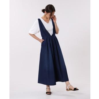 【PLST】【別注】W by woadblue ジャンパースカート