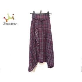 ミラオーウェン Mila Owen ロングスカート サイズ0 XS レディース ピンク×ネイビー×白 新着 20190605