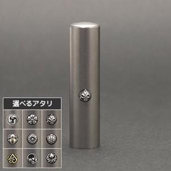 銀行印 かすう工房 朱印 ブラストチタン 15.0mm