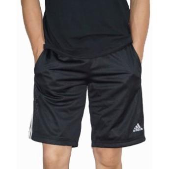 アディダス adidas ショートパンツ 3ストライプ CD8272 黒 メッシュ 速乾 通気性 トレーニング ランニング ジム ハーフパンツ