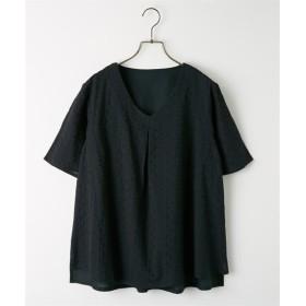 前レースフレア袖ブラウス (ブラウス),Blouses, Shirts