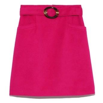 Lily Brown レトロ台形ミニスカート ピンク