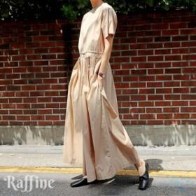 オールインワン サロペット 半袖 シンプル 普段着コーデ ゆったり ブラック ベージュ S-XL パンツドレス  結婚式 パンツスーツ パンツド