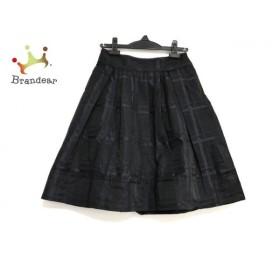 ボディドレッシングデラックス スカート サイズ36 S レディース 美品 黒×パープル チェック柄   スペシャル特価 20190917