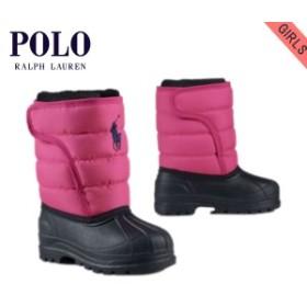 ポロ ラルフローレン キッズ POLO RALPH LAUREN CHILDREN 正規品 子供服 ガールズ スノーブーツ Vancouver EZ Snow Boot #21196666 PINK