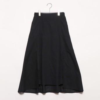 スタイルブロック STYLEBLOCK スラブガーゼスリットマーメイドスカート (ブラック)