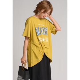 LIPSTAR MALIBUねじりTシャツ Tシャツ・カットソー,イエロー