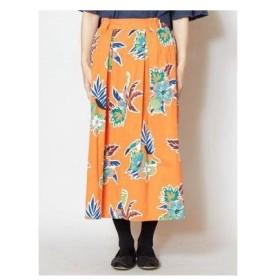 【チャイハネ】メキシカンフラワースカート オレンジ