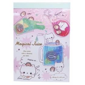 メモ帳 マジカルジュース A6 ボリューム メモ 文具 おもしろ雑貨 グッズ メール便可