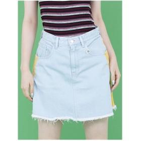 little sunny bite denimskirt/サイドラインデニムスカート LIGHT WASH