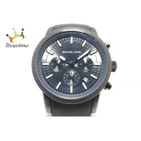 b78fadde01 マイケルコース MICHAEL KORS 腕時計 MK-8241 メンズ ラバーベルト/クロノグラフ ダークグレー 新着