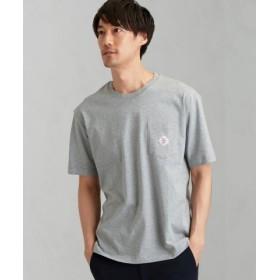 (green label relaxing/グリーンレーベルリラクシング)[ペイデイ] SC★★PAYDAY ロゴ ポケット-Tシャツ/メンズ MDGRAY