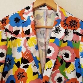 花柄テーラードジャケット