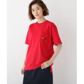 (BASE STATION/ベースステーション)マークゴンザレス別注 ポケット エンジェル 半袖 Tシャツ/レディース レッド(062)