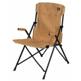 クイックキャンプ (QUICKCAMP) ハイバックチェア サンド QC-HFC アウトドア用 軽量 折りたたみ チェア 椅子 イス 集束式 コンパクト