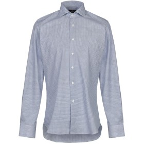 《9/20まで! 限定セール開催中》ALEA メンズ シャツ ブルー 40 コットン 100%