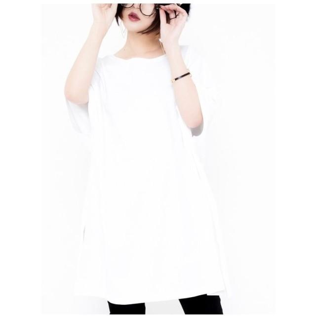 CuLLtワイドTシャツジオメトリックホワイト WHITE