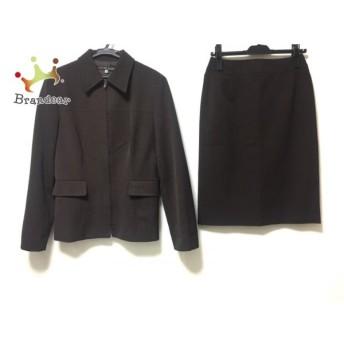 ミッシェルクラン スカートスーツ レディース ダークブラウン ジップアップ/肩パッド スペシャル特価 20190907