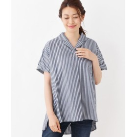 SHOO・LA・RUE / シューラルー 開襟ストライプスキッパーシャツ