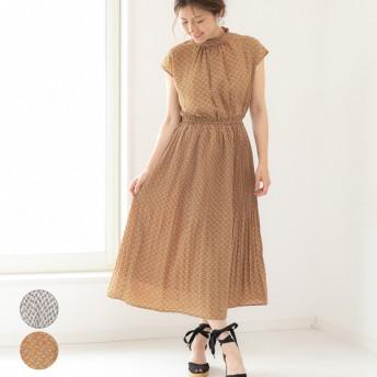 ワンピース - LAPULE レディース ファッション 30代 20代 春 夏 ワンピース ロングワンピ プリーツ ナチュラル きれいめ ノースリーブ ハイネック高見え